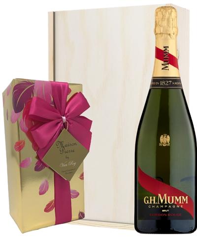 Mumm Champagne & Belgian Chocolates Gift Box
