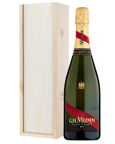 Mumm Champagne Gift in Wooden Box