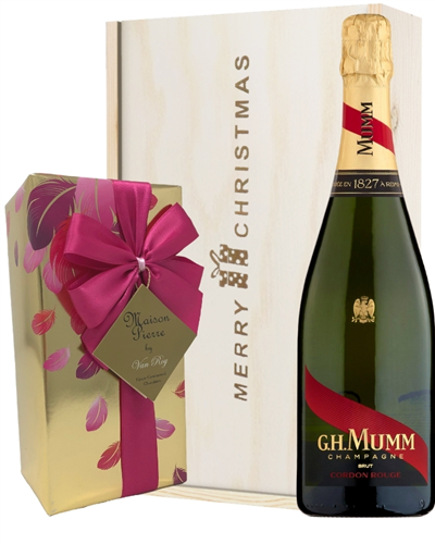 Mumm Christmas Champagne and Chocolates Gift Box