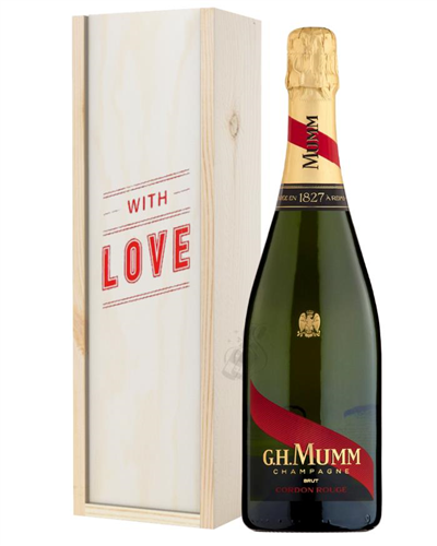 Mumm Cordon Rouge Champagne Valentines Day Gift