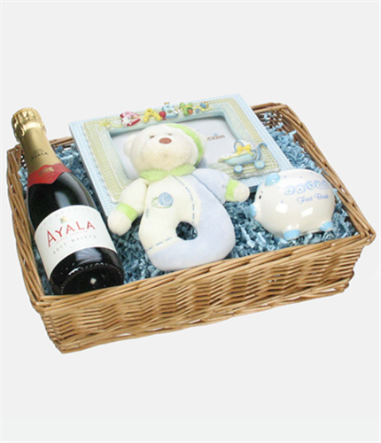 New Born Baby Boy Gift Basket