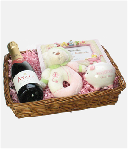 New Born Baby Girl Gift Basket
