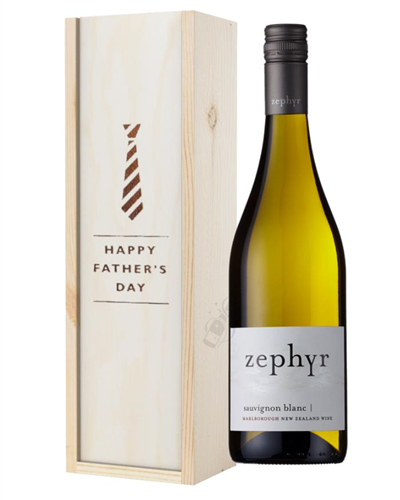 New Zealand Sauvignon Blanc White Wine Fathers Day Gift In Wooden Box