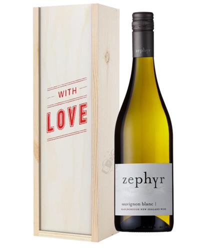 New Zealand Sauvignon Blanc White Wine Valentines With love Special Gift Box