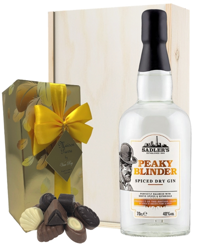 Peaky Blinder Spiced Gin And Chocolates Gift Set