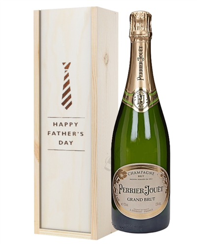 Perrier Jouet Champagne Fathers Day Gift In Wooden Box
