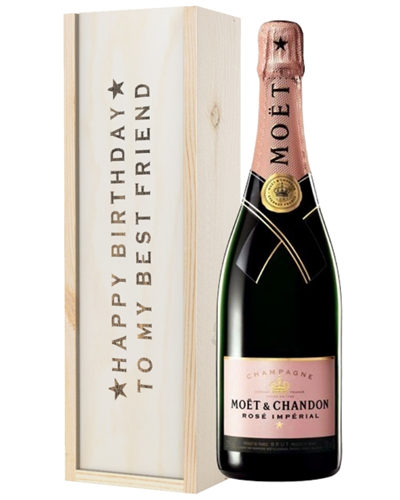 Pink Champagne Birthday Gift For Best Friend
