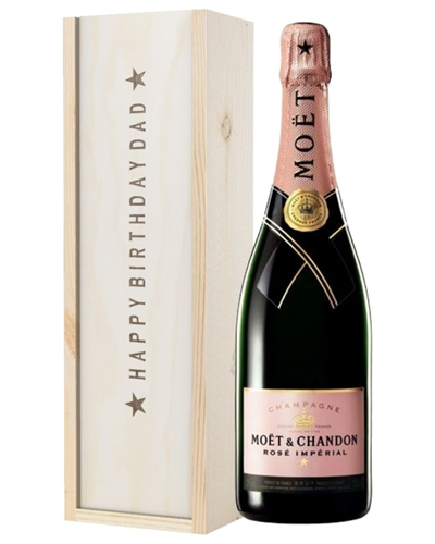 Pink Champagne Birthday Gift For Dad