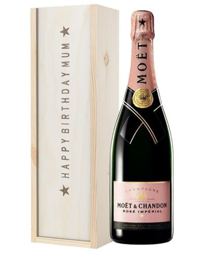 Pink Champagne Birthday Gift For Mum