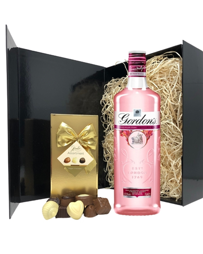 Pink Gin Gift Set - Gordons Pink Gin Gifts for Gin Lovers