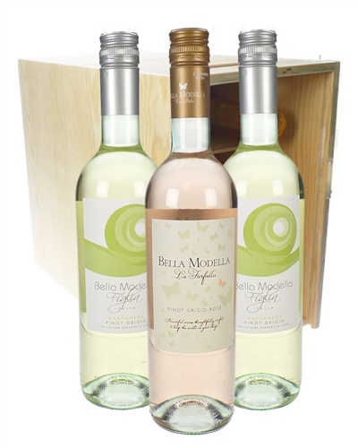 Pinot Grigio And Pinot Grigio Rose Six Bottle Crate