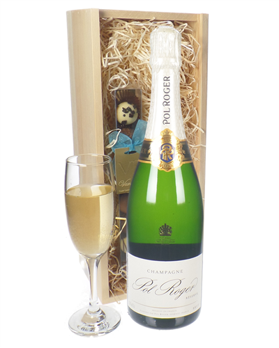 Pol Roger Champagne and Chocolates Gift Set