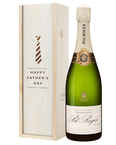 Pol Roger Champagne Fathers Day Gift In Wooden Box