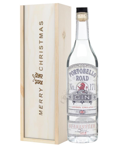 Portobello Road Gin Christmas Gift In Wooden Box