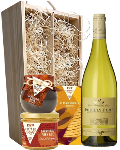 Pouilly Fume White Wine And Gourmet Food Gift Box