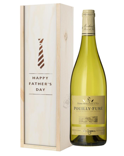 Pouilly Fume White Wine Fathers Day Gift In Wooden Box