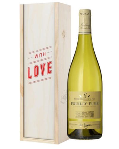Pouilly Fume White Wine Valentines With Love Special Gift Box