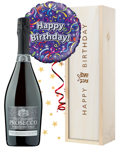 Prosecco and Balloon Birthday Gift