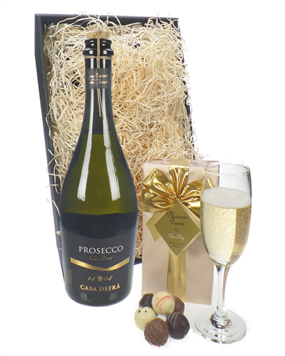 Prosecco & Chocolate Hamper Tray (Frizante)