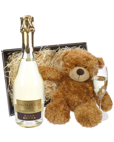 Prosecco And Teddy Bear Gift