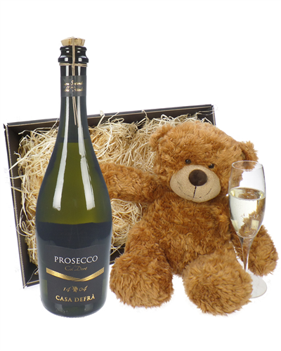 Prosecco Frizzante And Teddy Bear Gift