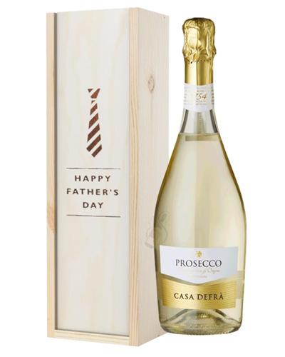 Prosecco Spumante Fathers Day Gift In Wooden Box
