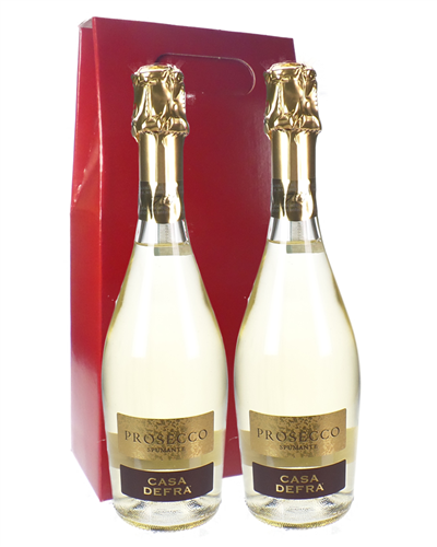 Prosecco Two Bottle Wine Gift Box