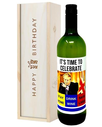 Quarantine Birthday White Wine Birthday Gift