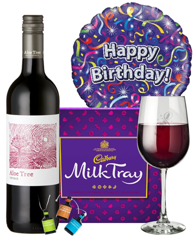 Red Wine And Chocolates Birthday Gift