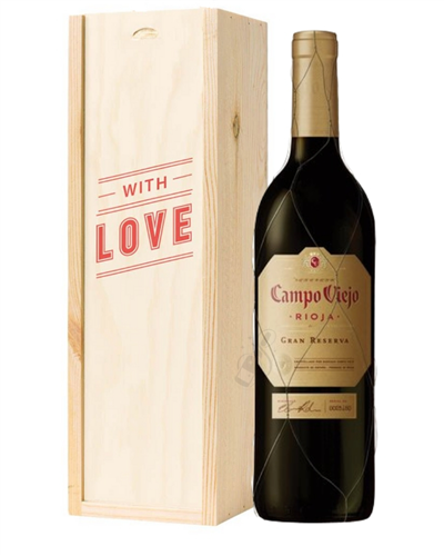 Rioja Gran Reserva Red Wine Valentines With Love Special Gift Box