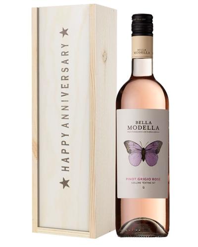 Rose Wine Anniversary Gift