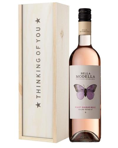 Rose Wine Thinking of You Gift
