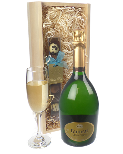 Ruinart Champagne and Chocolates Gift Set