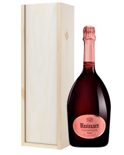 Ruinart Rose Champagne Gift in Wooden Box