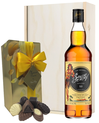Sailor Jerry Spiced Rum And Chocolate Gift Set