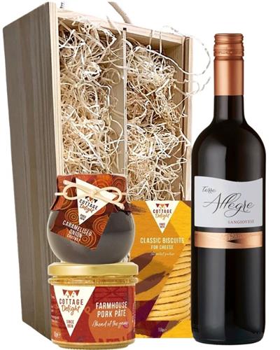 Sangiovese Italian Wine & Gourmet Food Gift Box