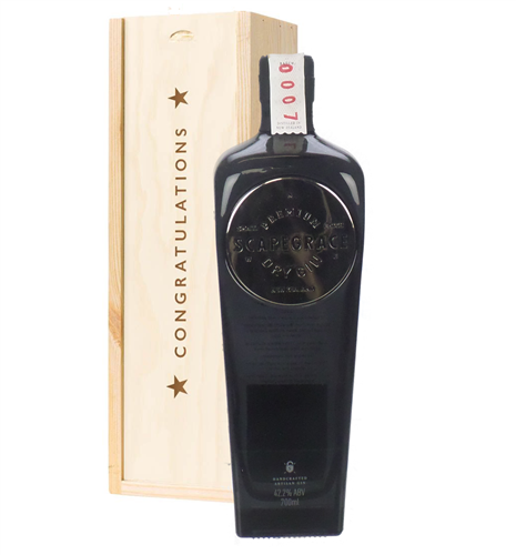 Scapegrace Gin Congratulations Gift In Wooden Box