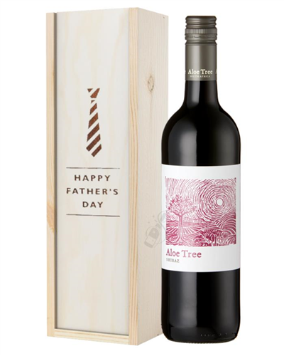 South African Shiraz Red Wine Fathers Day Gift in Wooden Box