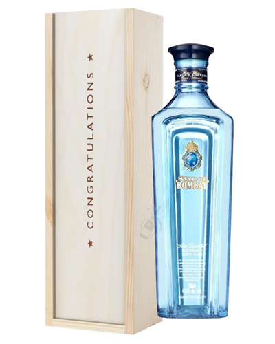 Star Of Bombay Gin Congratulations Gift In Wooden Box