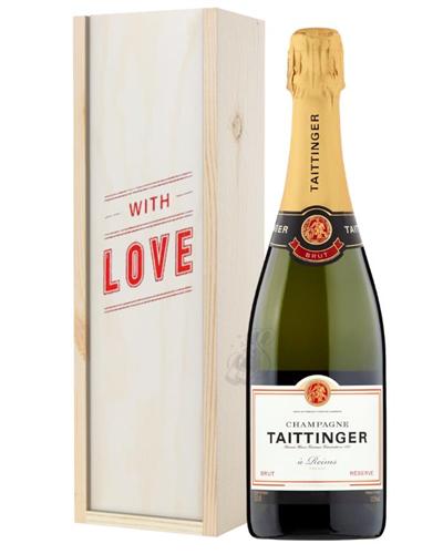Taittinger Brut Champagne Valentines Day Gift