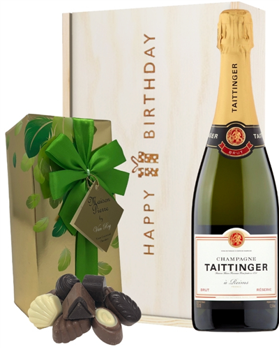 Taittinger Champagne and Chocolates Birthday Gift Box