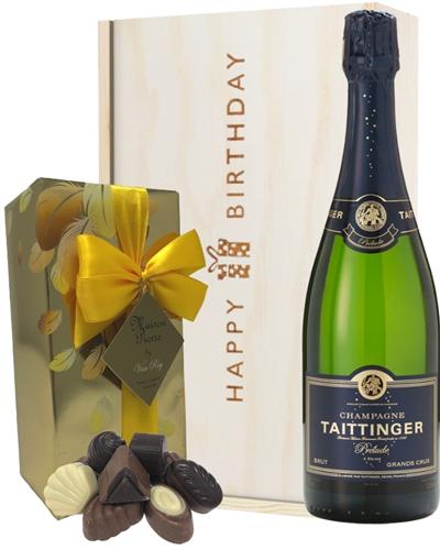 Taittinger Prelude Champagne and Chocolates Birthday Gift Box