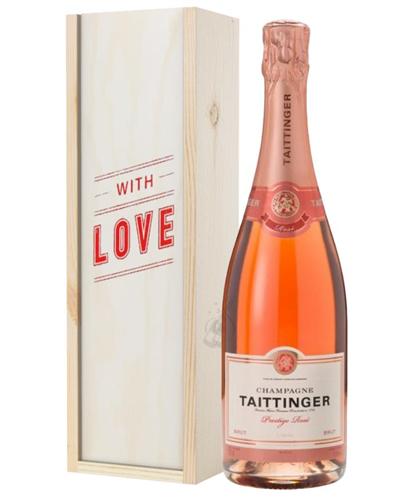 Taittinger Rose Champagne Valentines Day Gift