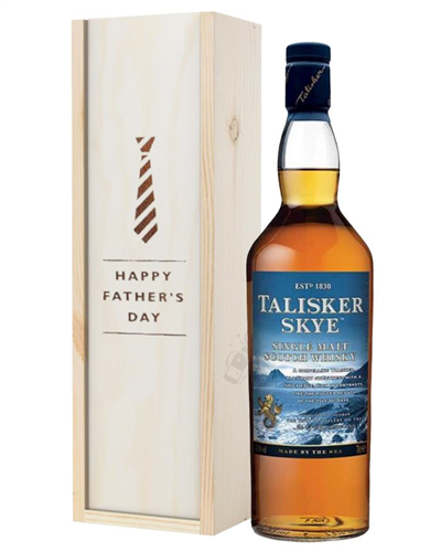 Talisker Skye Single Malt Whisky Fathers Day Gift In Wooden Box