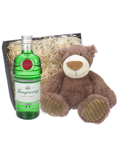 Tanqueray Gin And Teddy Bear Gift Basket