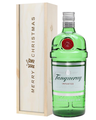 Tanqueray Gin Christmas Gift In Wooden Box