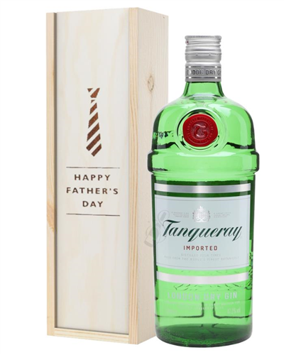 Tanqueray London Dry Gin Fathers Day Gift In Wooden Box