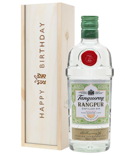 Tanqueray Rangpur Gin Birthday Gift In Wooden Box