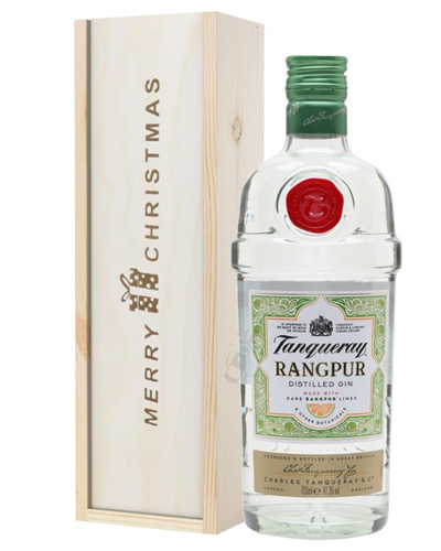Tanqueray Rangpur Gin Christmas Gift In Wooden Box