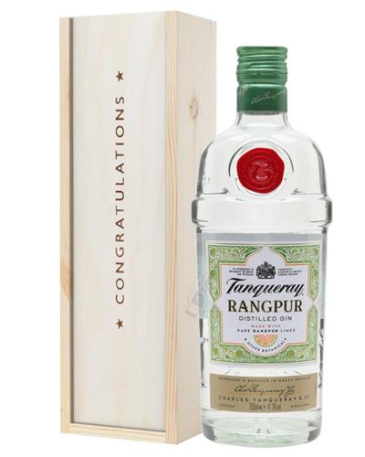 Tanqueray Rangpur Gin Congratulations Gift In Wooden Box
